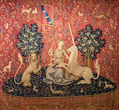 La vue, la Dame à la licorne, the Lady and the Unicorn, the sight