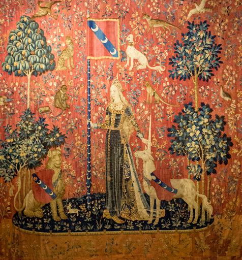 Le toucher, La Dame à la licorne,The Lady and the Unicorn, the touch