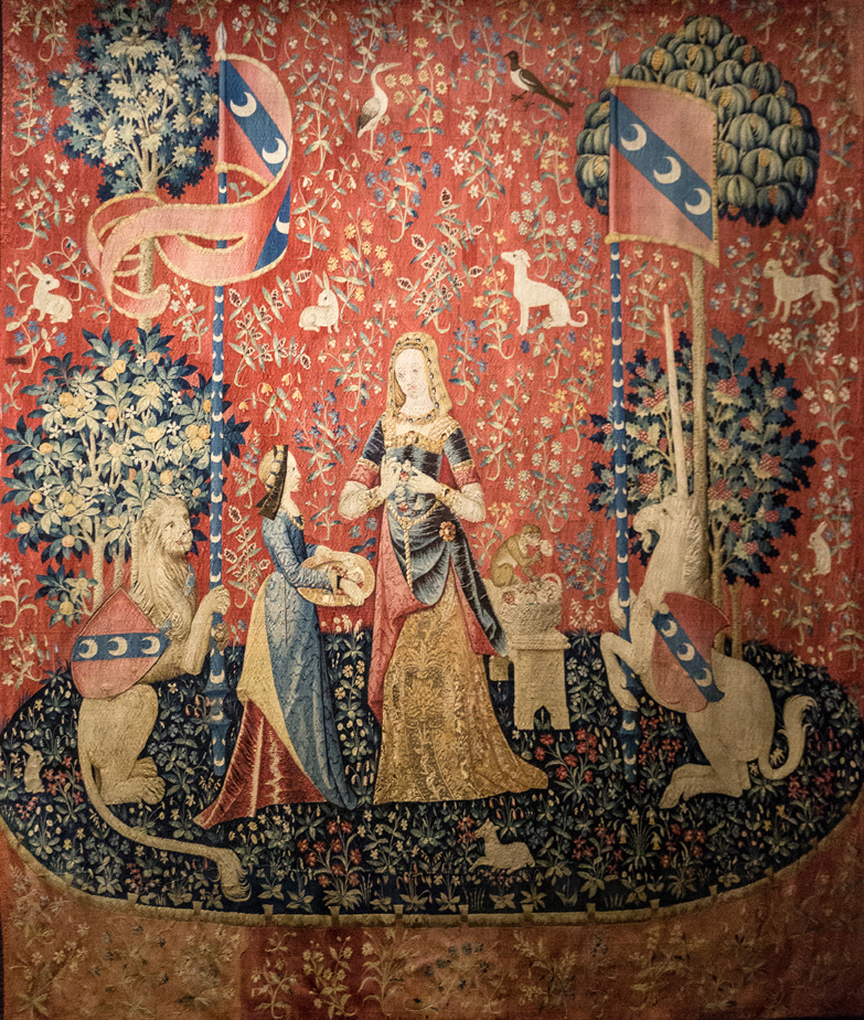 L'odorat, La Dame à la licorne, The Lady and the unicorn, the smell
