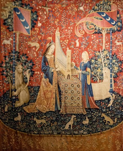 L'ouie, La Dame à la licorne, The Lady and the Unicorn, the hearing