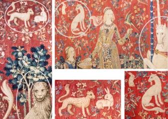 La Dame à la licorne, le goût et la vue (détails)